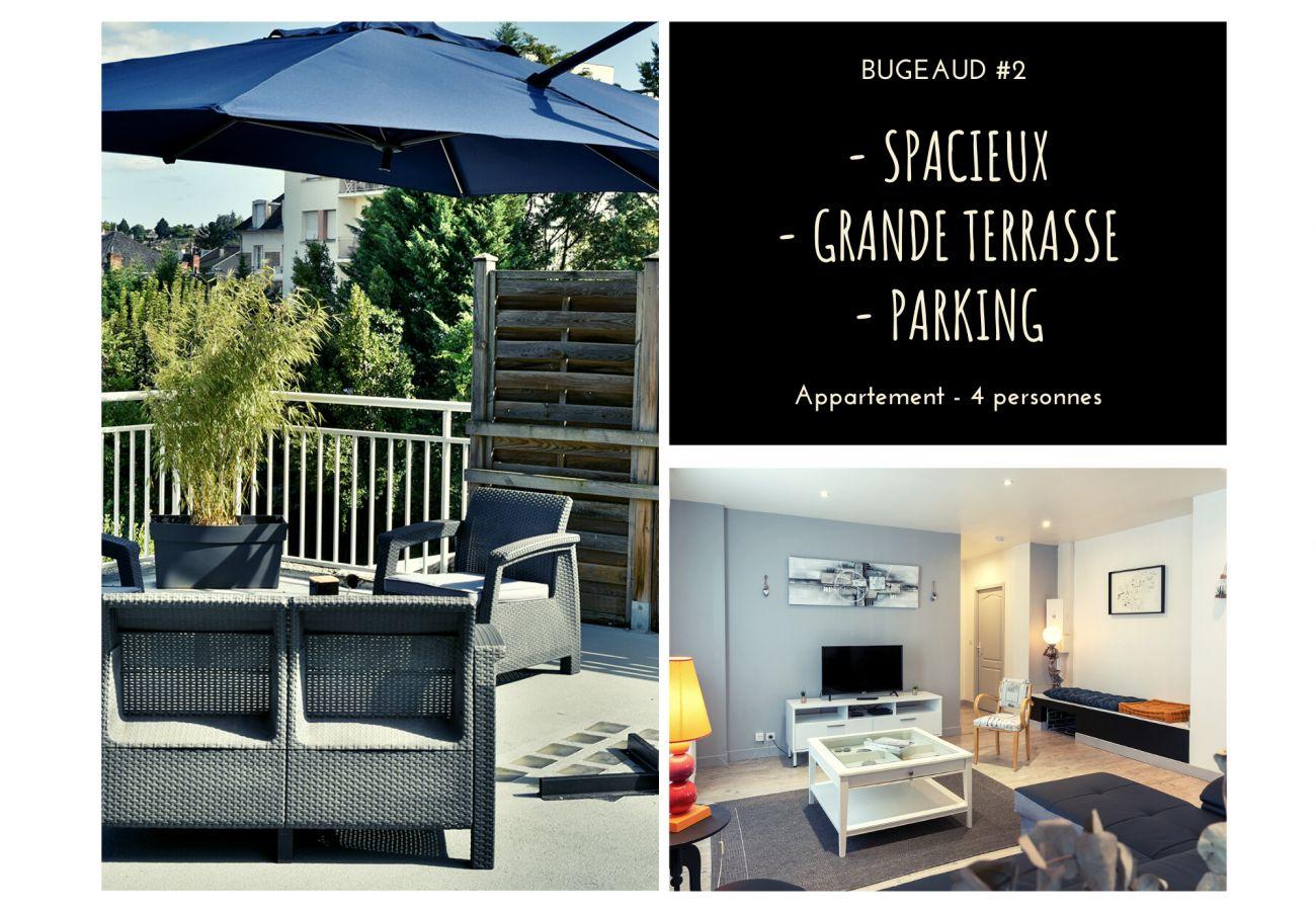 Appartement à Brive-la-Gaillarde - BUGEAUD #2 - Appart. Grande Terrasse - 2 chamb